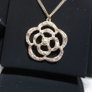 Authentic CHANEL Iconic Camellia CC Necklace